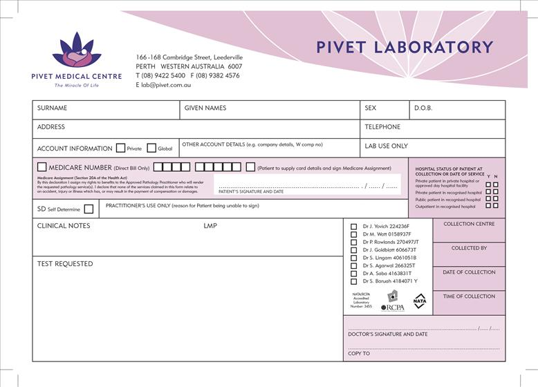 Medical Forms Printing Design Perth  Dx Medical Stationery