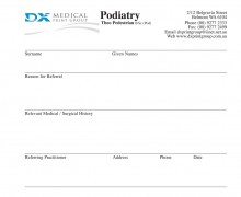Referral Pad Printing - Medical Data Forms - Printing Perth