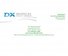 Business Card Printing Perth - DX Medical Stationery